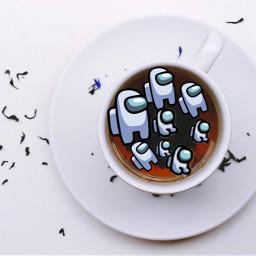 cup tea amongus baby cute amongusonline viral famous charli addison zoe avani trending trend aww remix freetoedit ircacupoftea acupoftea