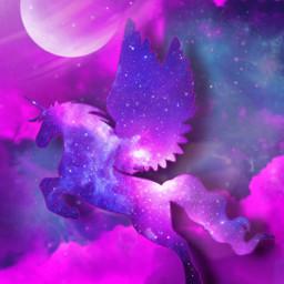 fantasyart makebelieve makeawesome alternateuniverse myimagination becreative heypicsart unicorn galaxy space aestheticsky stickerart lensflare adjusttools tiltshift artisticedit myedit madewithpicsart freetoedit