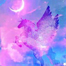 freetoedit glitter sparkle galaxy stars cloyds unicorn pastel dream imagination inspirational moon glow kawaii purple cute art background overlay wallpaper