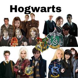 hogwarts gryffindor slytherin hufflepuff ravenclaw freetoedit