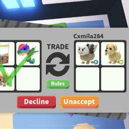 adoptme robloxgirl griffin dog neon dinopets