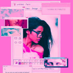 indiangirl brown brownskingirl pink computer cybereffect indian girl girlwithglasses glasses popups freetoedit