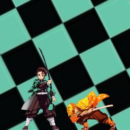 demonslayer tanjiro zenitsu picsartmaster32 freetoedit