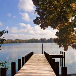 freetoedit remixit remixme landscape nature autumn fall leafs lake
