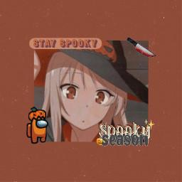 halloween halloweenspirit orange aesthetic anime amongus spooky spookyszn freetoedit