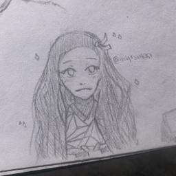 anime drawing doodle art traditionalart animeart sketch nezuko demonslayer kimetsunoyaiba nezukochan nezukokamado kamadonezuko