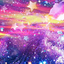 freetoedit glitter sparkle galaxy sky stars ocean beach moon sunset nature waves water sea tropical art colorful glow background overlay wallpaper