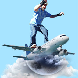 freetoedit airplane clouds sky blue eczoombackgroundsvibes