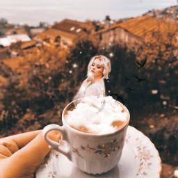 freetoedit coffee coffeecup beautygirl blackbird