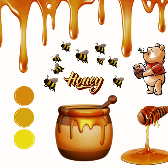 #honey #yellow #winniethepooh #simpleedit #orange #abejas #dorado #miel #simple #naranjo #amarillo