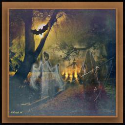creepy halloween dark ghost fantasy nightmare freetoedit