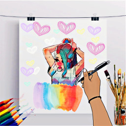 heypicsarts paint drawing like followme freetoedit