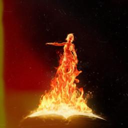 freetoedit fire bookfire book girl