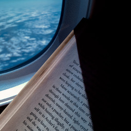 freetoedit books booklover imagination photography interesting airplane fly clouds pcmyfavoritebook myfavoritebook