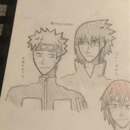 anime drawing doodle art traditionalart animeart sketch naruto uzumakinaruto narutouzumaki sasuke uchihasasuke sasukeuchiha