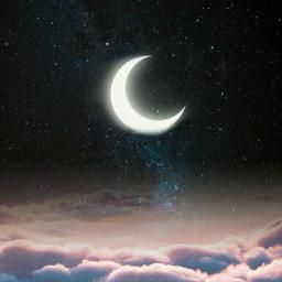 magic moon clouds beautiful freetoedit