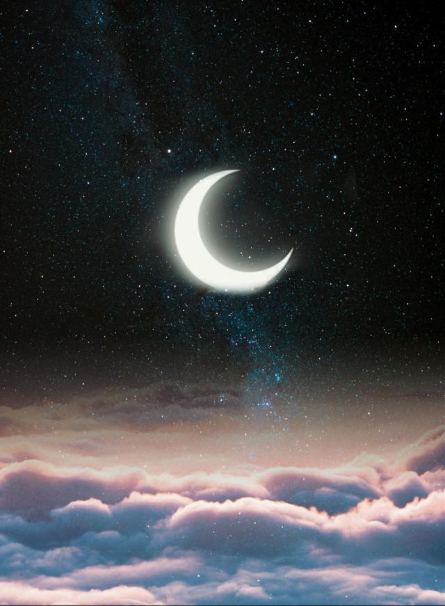 #magic #moon #clouds #beautiful