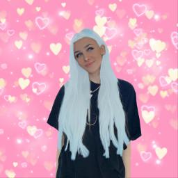bad blue haircolour blueheart freetoedit