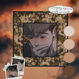 anime manga killingstalking killingmesoftly yaoi sangwoo ohsangwoo yoonbum bum wallpaper edit background aesthetic freetoedit