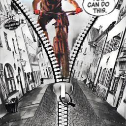 picsart myedit myremix surreal freetoedit sky photomanipulation photoart fxeffects cycling cyclist jump zippereffect comics