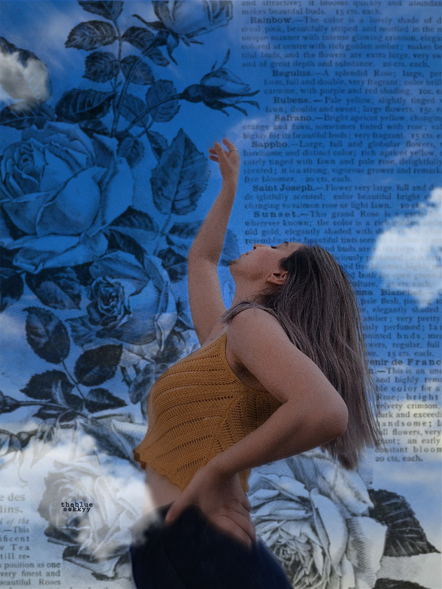#girl #girls #woman #women #sky #clouds #blue