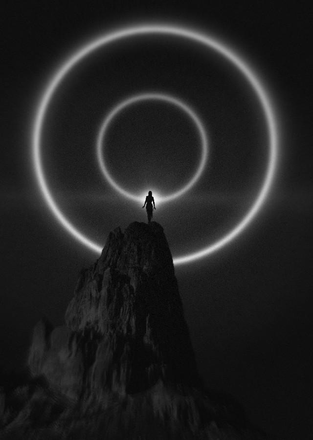 #blackandwhite #simplestyle #plain #black #dark #darkness #light #mountain