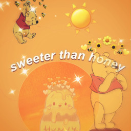 poohbear poohbearwallpaper winniepooh winnie honey sun pooh bee srcbethequeenbee bethequeenbee freetoedit