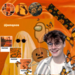 edit autumn orange vibes wilbursoot halloween fall butterflys ghosts octobervibes freetoedit