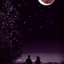 madewithpicsart myphotography myedit love sky moon dark romantic freetoedit