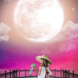 freetoedit myedit madewithpicsart girl cloud galaxy moonlight moon fullmoon araceliss fantasy