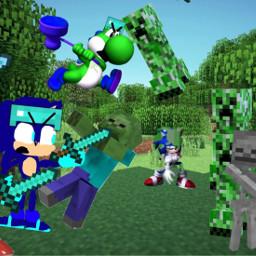us vs minecraftmobs shock shockthehedgehog