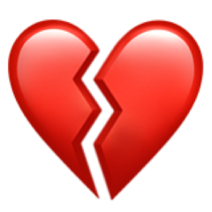 emoji break corazon corazonroto error nosignal sad triste rojo freetoedit
