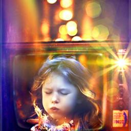 freetoedit littlegirl fire lights wallpaper rcontv
