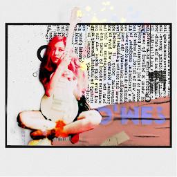 guitar girl art collage freetoedit