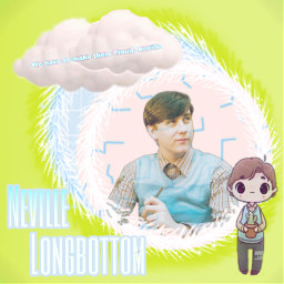nevillelongbottom neville longbottom longbottomneville clouds cloud pinkandblue blue pink text circleaesthetic astethic freetoedit