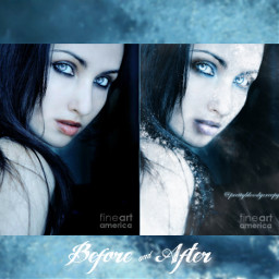 photography fx aesthetic dark cold winter effects beautiful nature frozen frost frostbite freezing woman model blue myedit beforeafter beforeandafter donotremix donotsteal girl gothic pretty makeup