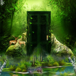 @asweetsmile1 door deer blendedimages blend creative beautiful background freetoedit