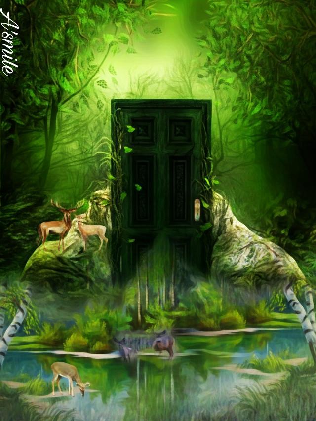 #@asweetsmile1 #door #deer #blendedimages #blend #creative #beautiful #background