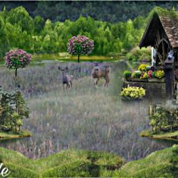 @asweetsmile1 deer blendedimages blend creative creativeart background remix challenge freetoedit