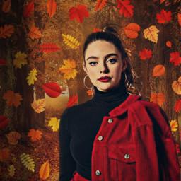 hopemikaelson daniellerussell legacies fallmood fall autumn october theoriginals model actress freetoedit srcautumnleaves autumnleaves