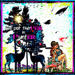 myedit picsart picsartgirl picsartstickers quotesandsayings deers faceless country rifle treestump mushroom freetoedit