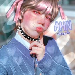 the ahnseongmin seongmin cravity cravityseongmin maknae rookie catboy kpop kpopedit kpopmanip manipulationedit edit colors