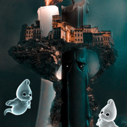 remixit love doubleexposure surreal ghost candle freetoedit