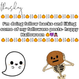 halloween ghost pumpkin cute adorable holiday folowforfolow followback likesforlikes lasthashtag freetoedit