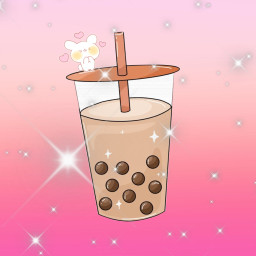 kawaii bubbletea boba anime sparkle softgirl freetoedit