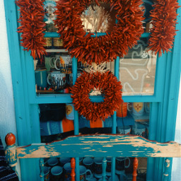 shopwindow chileristras chile southwestcolors turquoise oldtown albuquerque newmexico travel myphotography