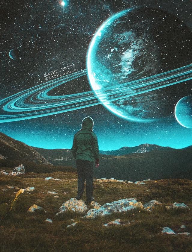#manipulation  #freetoedit  #sky #planet  #night  #manipulationedit  #surrealism  #surreal  #stars  #forest  #imagination