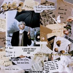 bts bangtan bangtanboys rm kimnamjoon kpop kpopedits kpopidol aesthetic brown white old photography nostalgia autumn music love
