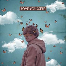 yoongiedit butterflyaesthetic loveyourselfbts freetoedit