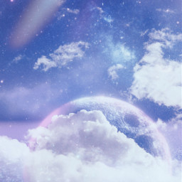 clouds moon dreamy background backgrounds remixit freetoedit